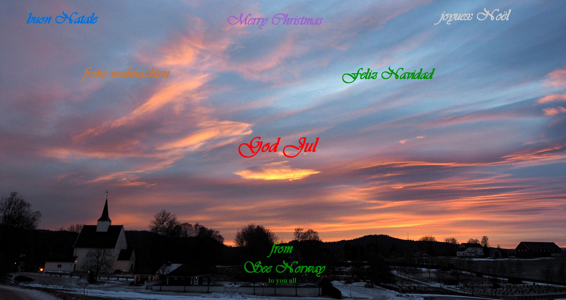 Christmas Greetings To All See Norway Se Norge